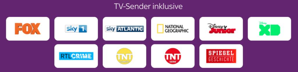 Diese Sender gibt es beim Sky Entertainment TIcket